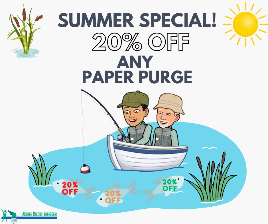 Summer Special! 20% off Any Paper Purge